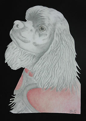 American Cocker Spaniel Artwork on Canvas and Cotton Bags Black, Blue or Natural
