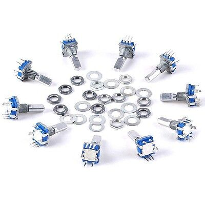 10pcs 12mm Rotary Encoder Push Button Switch Keyswitch Electronic Components