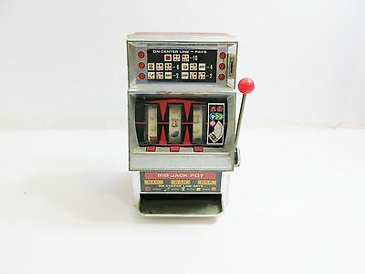 """Vintage Waco Of Japan Battery Operated Slot Machine Toy 12"""" Tall Sold As-Is"""