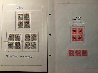 Nicaragua Mint Official Inverted Overprint Stamps 1893 & 198 #nic3