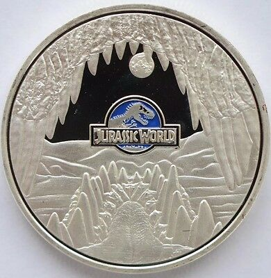 1oz Jurassic Park World Finished in Silver .999 coin Medallion Collectable Movie