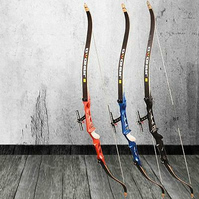 "66"" Archery Takedown Recurve Bow Hunting Shooting Longbow Target Practice Games"
