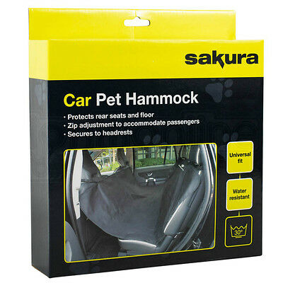 Heavy Duty Car Pet Hammock Water Resistant Rear Seat Boot Dog Protector Covers