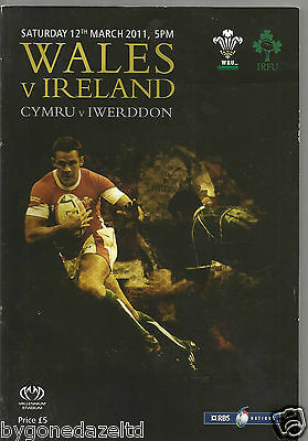 Wales v Ireland March 2011 Rugby Programme