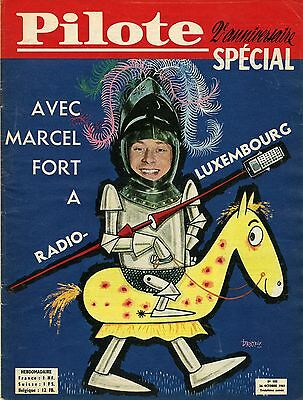 """AVEC MARCEL FORT à RADIO-LUXEMBOURG (DROPY)"" PILOTE n° 105 (26/10/1961)"