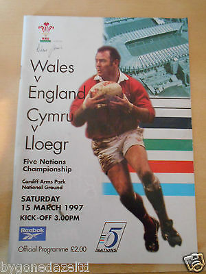 WALES v ENGLAND MARCH 1997 RUGBY UNION PROGRAMME