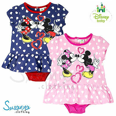 Disney Minnie Mickey Mouse baby Girls Romper Babygrow Skirt Top NEW 2016