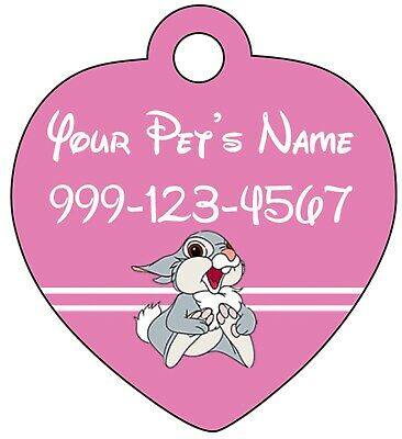 Disney Bambi Thumper Pet Id Tag for Dogs & Cats Personalized w/ Name & Number