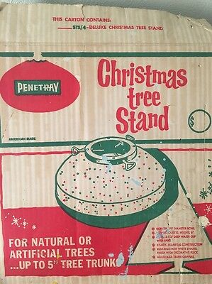 VINTAGE STS/4 Christmas TREE STAND PENETRAY Collectible METAL