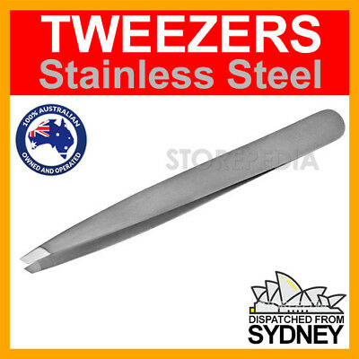 NEW TWEEZER Stainless Steel SLANTED TIP Plucker Puller Tweezers Eyebrow Hair