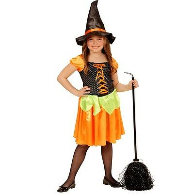 Hexe Kostüm Kinder Kleid Sequin Kürbis Spinne Hexen Halloween Witch Vampire