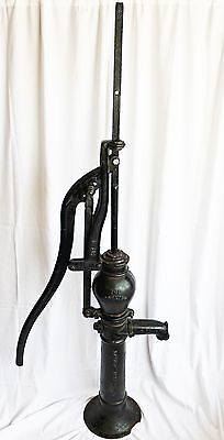 "Tall Antique Cast Iron Well Water Hand Pump ""The Oshkosh"""