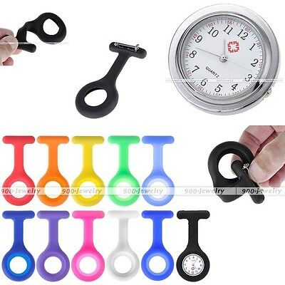 11 Replacement Pure Color Silicone Brooch Case Cover + 1 Nurse Pocket Watch Set