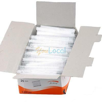 """5000PCS 1"""" Inch Standard White Plastic Price Tagging Barbs Fasteners Hot YL"""