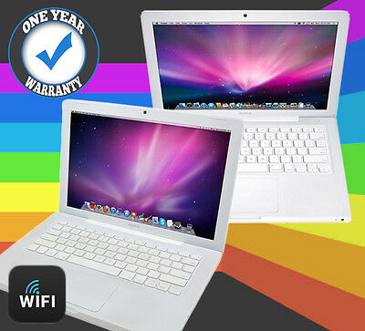 "Apple Macbook Powerful 4.0Ghz 80-120Gb Hdd 2Gb Ram A1181 13.3"" Osx Webcam White"