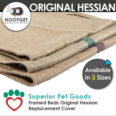 [3 Sizes] Superior Pet Goods -Jute Hessian Dog Framed Bed Mat Replacement Cover