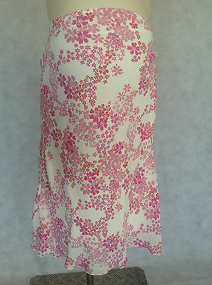 [277] Casual Collection Maternity Pink/white lined Skirt Size 8