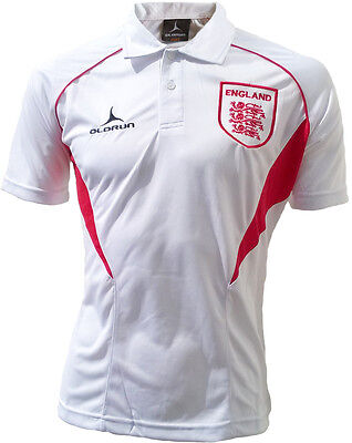 OLORUN ENGLAND SUPPORTERS Football Polo Shirt - White Red - S-XXXL ... 5c53af0dd