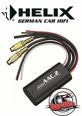 HELIX AAC.2 2-Kanal High Low Adapter AAC2 Signalwandler mit Remote VW, Opel, BMW