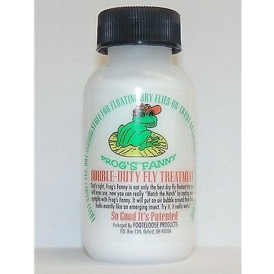 Frog's Fanny Dry Fly Treatment With Brush Double Duty Floatant Frogs Fanny Dust