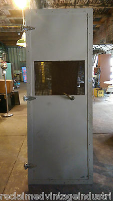 Reclaimed Vintage Industrial Faraday Cage Door.  From RCA Plant, Indianapolis,In