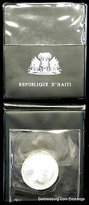 1968 Haiti 10 Gourdes Silver Coin in Case