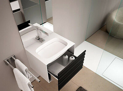 Planit sinks Impro sink with unit in Corian IMPRO1