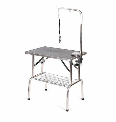 Pedigroom stainless steel dog pet cat grooming show portable mobile table arm bl