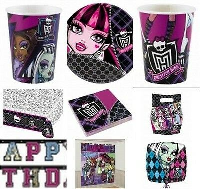 Monster High Birthday Party Items Balloons Tableware Decorations Girls Party