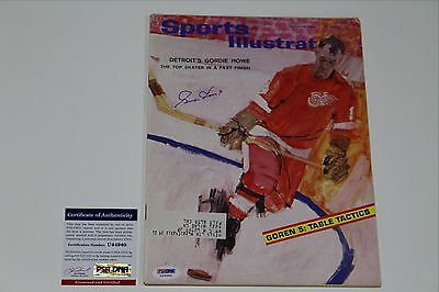 Gordie Howe Signed Sports Illustrated Psa/dna Auth Coa 3/16/64 Detroit Red Wings