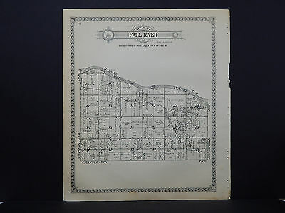 Illinois, La Salle County Map, 1929 Fall River and Ottawa Township, Double Sided
