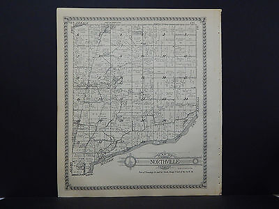 Illinois, La Salle County Map 1929 Adams or Northville Township Dbl Side L17#72