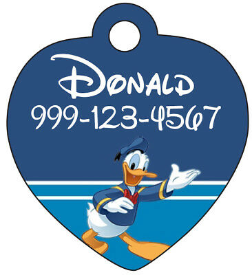Disney Donald Duck Pet Id Tag for Dogs & Cats Personalized w/ Name & Number