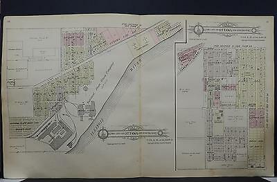 Illinois, La Salle County Map 1929 City of Ottawa 2-Double Pages L17#77