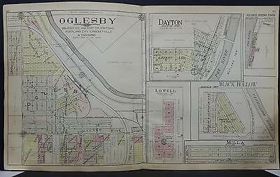 Illinois, La Salle County Map, 1929 City of Oglesby, Double Page L17#83