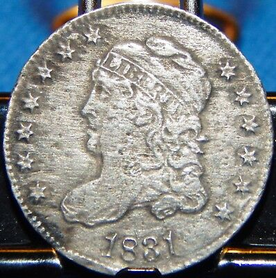 1831 Capped Bust Silver Half Dime Circulated Philadelphia!