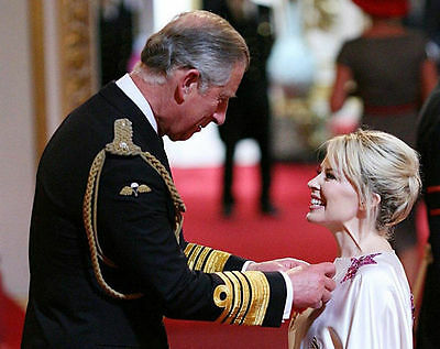 Kylie Minogue & Prince Charles Unsigned Photo - 8210