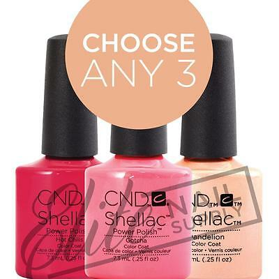 CND SHELLAC UV Color Coat 7.3ml - Choose Any 3 Colours + FREE CND Remover Wraps