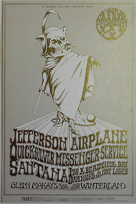 Jefferson Airplane, Quicksilver, Dan Hicks | Art byTuten - Orig. 1970 Postcard