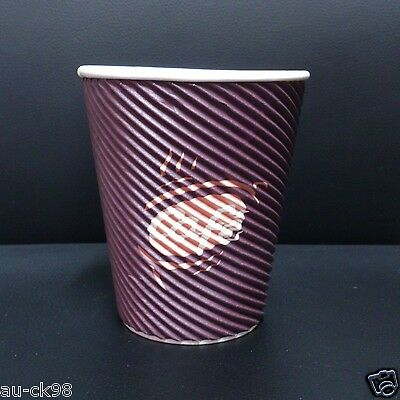 100 x 12oz Triple Wall Paper Coffee Cups Corrugated - Cafe Printing