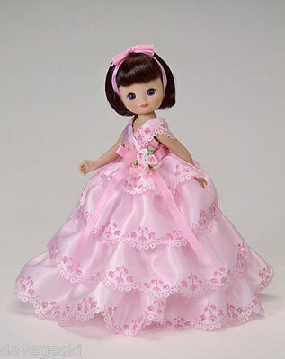 """Tonner 8"""" Tiny Betsy McCall Pink Portrait Doll Brunette Formal Gown NRFB"""