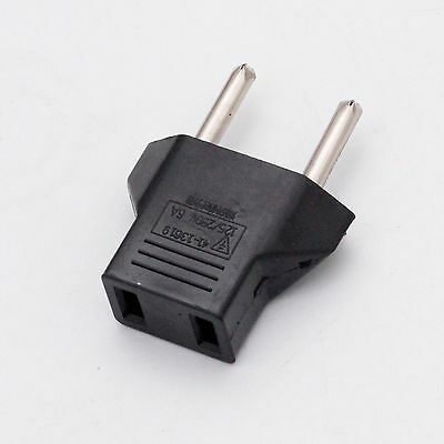 American US to European EU Travel Adapter Power Jack Wall Plug Outlet Converter
