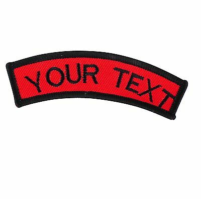 Image is loading Personalised-Name-Tag-Embroidered-Patch-BIKER-Patch-Iron-