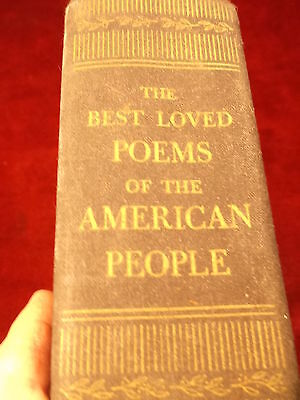 """Old Vtg Antique 1936 Book """"the Best Loved Poems Of The American People"""" Dbl Day"""