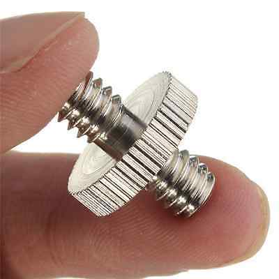 "1 Pieces 1/4"" Male to 1/4"" Male Threaded Screw Adapter for Camera Cage/Tripod CA"