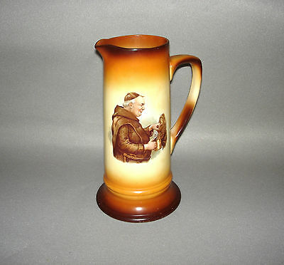 Antique 1930's Friar Monk Tapping a Keg Tankard 12""