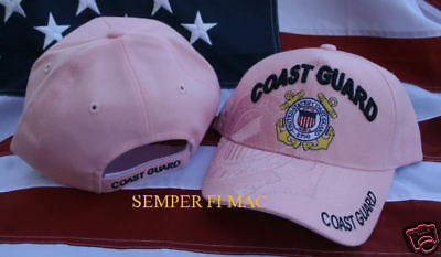 Us Coast Guard Pink Hat Wife Daughter Sister Niece Aunt Mom Cap Pin Up Uscg Gift