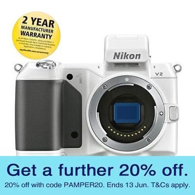Nikon 1 V2 Mirrorless Camera - Body with GEN NIKON WARR