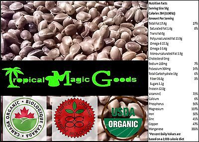 * Certified Organic * 100% Pure & Natural Canadian Whole Hemp Seeds * 1 Lbs