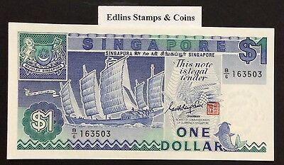 1987 $1 Singapore Banknote - Uncirculated - Pick 18A - B/6 163503